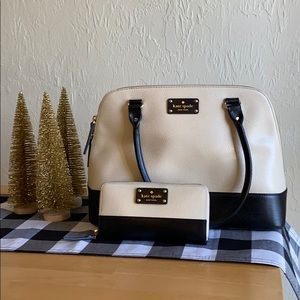 Kate Spade tote with matching wallet